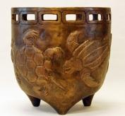 Krukke dekoreret med skildpadder