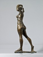 """Italiana"" kvindefigur i bronze, cm 42 cm."