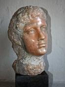 """""""Testa"""" - Italiensk marmor i naturlig størrelse (solgt)."""