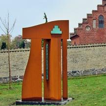 Corten stål - 2012. Ved Svogerslev Kirkegård.