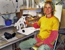 Trine Guld i sit værksted i Ebeltoft.