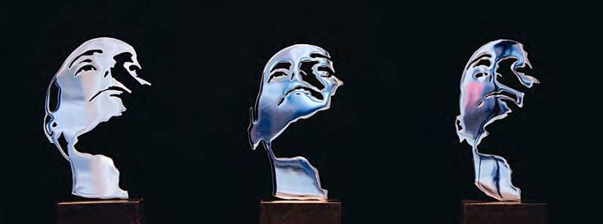 Close-up. Skulpturinstallation i tre dele.