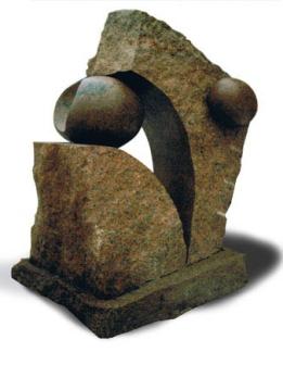 Niels Bjerre: Menneskeæder. 1995, granit