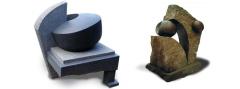 Niels Bjerre: Highlight. 2006, granit, og Menneskeæder. 1995, granit.