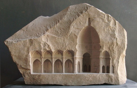 """Elevation V: Santa Maria del Fiore, Florence"" - 2010, limestone, height 37cm"