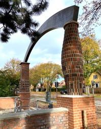 Teglporten ved Hendriksholm skole i Rødovre.