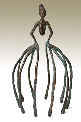 FingerFrue. Bronze ca. 45x30x30 cm