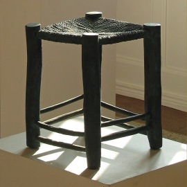 Taburet, bronze, 40x30x30