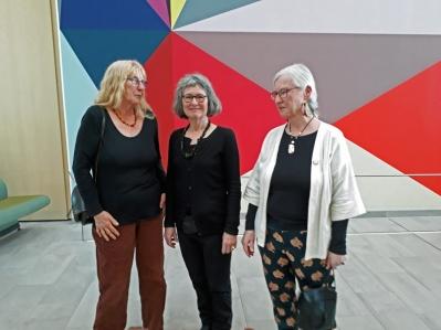 Tre gratier: Elna, Marianne og Lene